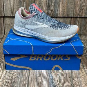 Brooks Womens Bedlam Running Shoe Gray Knit 120272